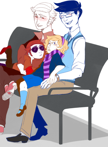 whoopsmartershere:  Speaking of JohnDave-ing, here you have children watching their daddies fall in love. Kill me; it is too early to have feelings towards John and Dave, especially single dads—!  Flag is too early! but this is alkdalskdalsdlsdalsdsñdldf so cute OMGGGGGGGGGG <3333333