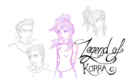 Here. Have some Legend of Korra doodles (: