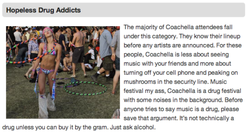 7 Types of People at Coachella Sometimes, stereotypes exist for a reason.