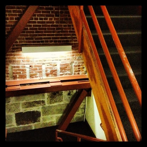 I love old exposed brick in the STAIRwell of our building! ^SR #photoadayapril (Taken with Instagram at Dolby Laboratories, Inc.)