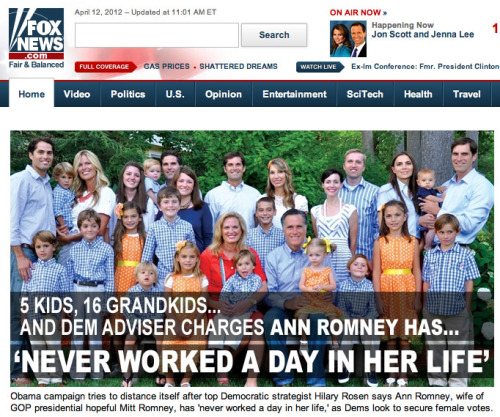 "Currently on Fox News. (image via Gawker, which adds the brilliant commentary: ""What an amazing family portrait. I keep thinking it'll turn into a Magic Eye image if I stare at the gingham long enough."")"