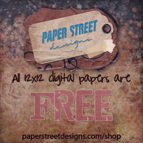 I'm in the giving kind of mood today…. all 12x12 digital papers are free. Yep, that's right, FREE!!!! http://www.paperstreetdesigns.com/shopI haven't decided how long I will keep this special sale going but know that the website will likely be slow because of it. Also, you have 21 days to download your purchases, there will be no download link resetting for any free papers acquired during this sale.