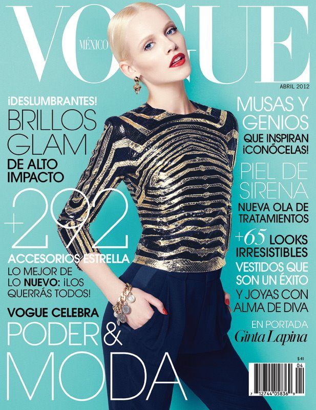 Cover of Vogue Mexico April 2012, hair by Pasquale Ferrante.