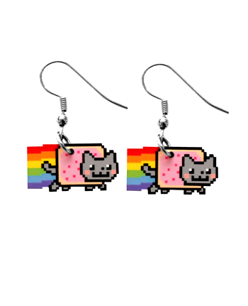 Nyan Cat earrings. They're probably fairly easy to make.