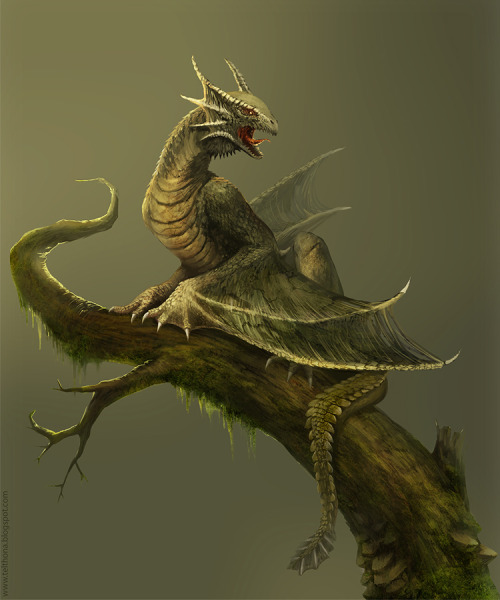 fuckyeahdragons:  Amfisbena: Forest Dragon by *telthona