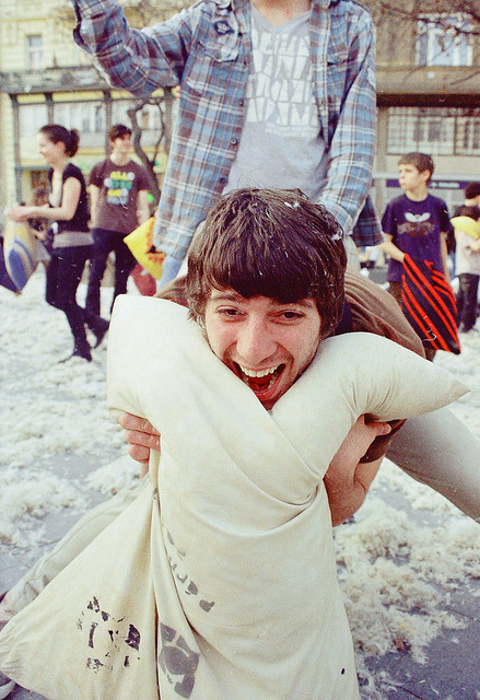 International Pillow Fight Day by habeebee on Flickr.International Pillow Fight Day