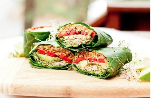 inspirefitness:  Raw Vegan Wraps