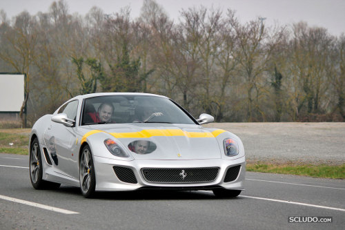 Note to Ferrari owners: If you buy a 599 GTO with the historical livery, we will have fun with it.