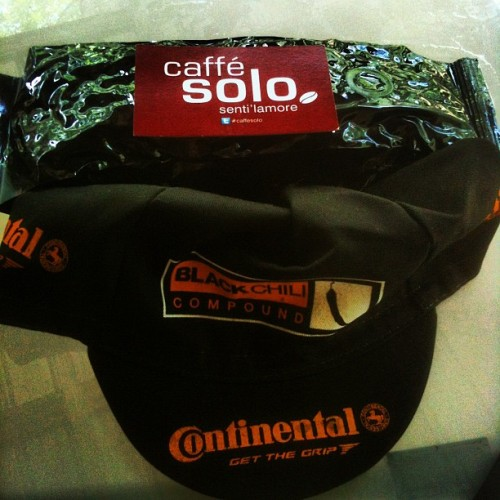 BOOM! @doctorwoolley care package of #caffesolo just arrived plus a Conti cap to boot! Can't wait to brew some Sunderland goodness! Big time thank you Dr.!!!! #SunderlandInAustin #coffee #cycling #CoffeeIsMyCrack #dope #Continental #England #UK  (Taken with instagram)