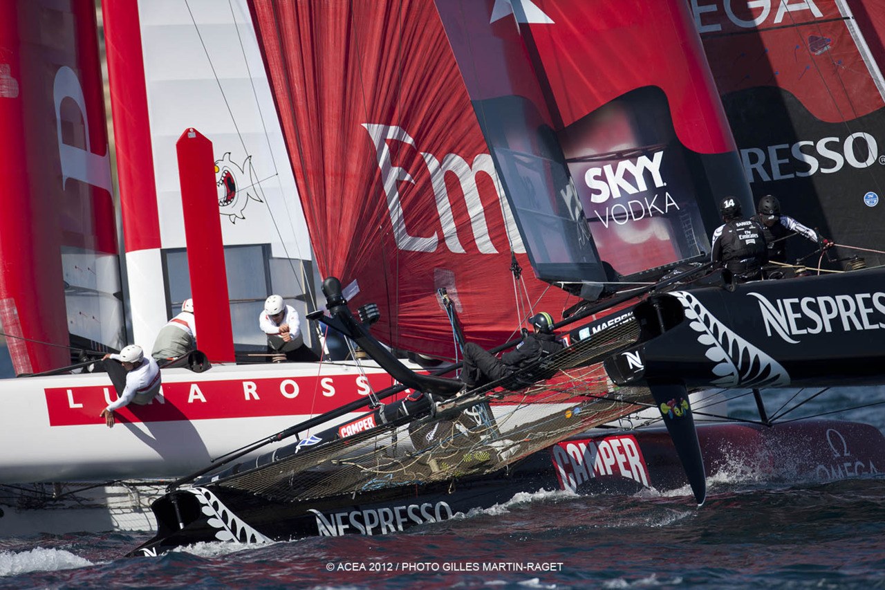 Emirates Team New Zealand dominated in Naples today