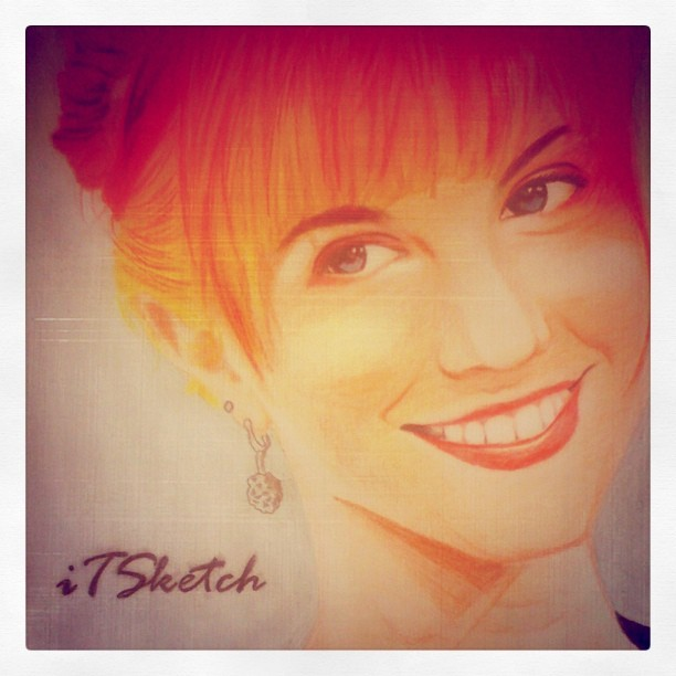 Hayley Williams Color Sketch. Order? Call me :) (Taken with instagram)