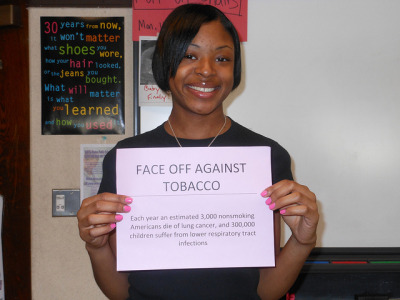 "FACE OFF AGAINST TOBACCO on Flickr.""Can't believe how much smoking impacts the world"""