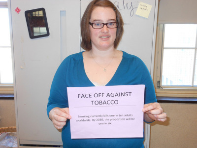 "FACE OFF AGAINST TOBACCO on Flickr.""Promote non-smoking habits"""
