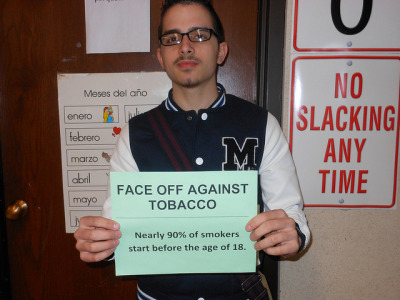 "FACE OFF AGAINST TOBACCO on Flickr.""I believe this is accurate, which is sad"""