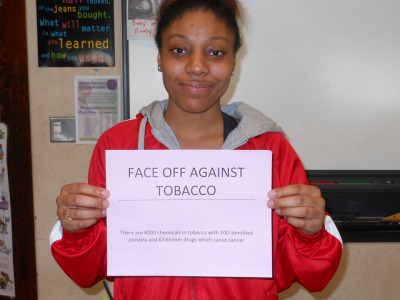 "FACE OFF AGAINST TOBACCO on Flickr.""Everyone has cancer cells in thier bodies, these are just some things that activate them."""