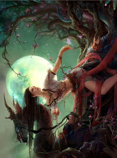 Full Moon by ~GBrush