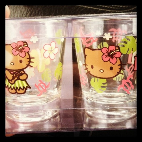More #HK shot glasses from @nansense's travels! ❤ya wifey!! #hellokitty #obsession (Taken with instagram)