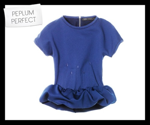 Peplum Love } How perfect is this Marc by Marc Jacobs Luca sweater?! NEED. - Via Vogue.com