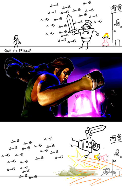 thelastinterceptor:  Hahaha, anyone knows who drew this? It's awesome xD  BIONIC ARM!