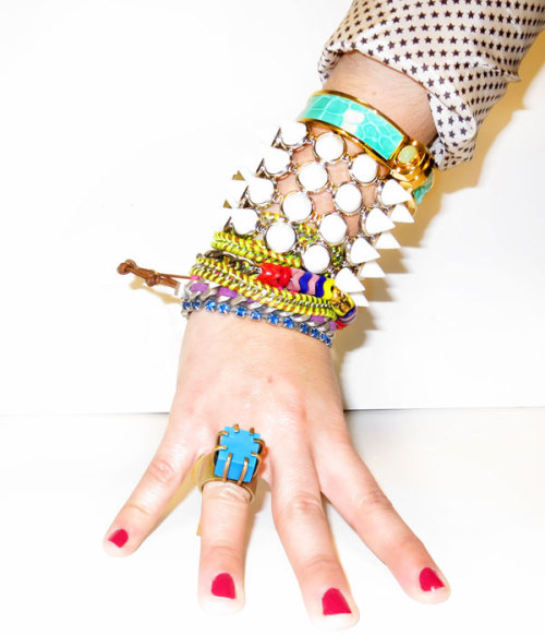 bergdorfgoodman:  Don't be shy: Technicolor jewelry is burning bright.