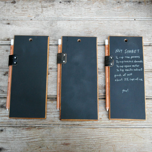 A trio of Chalk Tablets.  I need these because of REASONS (and not just because these would look lovely mounted in my kitchen, scribbled with uplifting quotes, potential recipes, and my usual novel notes that make no sense to anyone but me). *__*