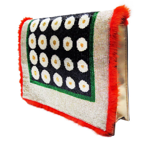 NEED. bergdorfgoodman:  Spring is here: Fendi Daisy Clutch.