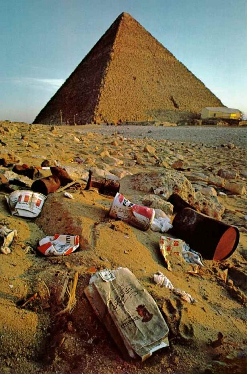No Respect: My favorite picture of the Great Pyramids.