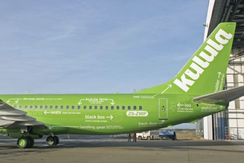 "the-absolute-funniest-posts:  Kulula is a low-cost South-African airline that doesn't take itself too seriously. Check out their new livery!  And have a read about their Customer Relations.   Kulula is an Airline with head office situated in Johannesburg.  Kulula airline attendants make an effort to make the in-flight ""safety lecture"" and announcements a bit more entertaining. Here are some real examples that have been heard or reported:On a Kulula flight, (there is no assigned seating, you just sit where you want) passengers were apparently having a hard time choosing, when a flight attendant announced, ""People, people we're not picking out furniture here, find a seat and get in it!""                —-o0o—-On another flight with a very ""senior"" flight attendant crew, the pilot said, ""Ladies and gentlemen, we've reached cruising altitude and will be turning down the cabin lights. This is for your comfort and to enhance the appearance of your flight attendants.""                ——o0o—-On landing, the stewardess said, ""Please be sure to take all of your belongings.. If you're going to leave anything, please make sure it's something we'd like to have.""                ——o0o—-""There may be 50 ways to leave your lover, but there are only 4 ways out of this airplane.""                —-o0o—-""Thank you for flying Kulula. We hope you enjoyed giving us the business as much as we enjoyed taking you for a ride.""                —-o0o—-As the plane landed and was coming to a stop at Durban Airport , a lone voice came over the loudspeaker: ""Whoa, big fella. WHOA!""                —-o0o—-After a particularly rough landing during thunderstorms in the Karoo , a flight attendant on a flight announced, ""Please take care when opening the overhead compartments because, after a landing like that, sure as hell everything has shifted.""                —-o0o—-From a Kulula employee: "" Welcome aboard Kulula 271 to Port Elizabeth.  To operate your seat belt, insert the metal tab into the buckle, and pull tight. It works just like every other seat belt; and, if you don't know how to operate one, you probably shouldn't be out in public unsupervised.""                —-o0o—-""In the event of a sudden loss of cabin pressure, masks will descend from the ceiling. Stop screaming, grab the mask, and pull it over your face. If you have a small child travelling with you, secure your mask before assisting with theirs. If you are travelling with more than one small child, pick your favourite.""                —-o0o—-Weather at our destination is 50 degrees with some broken clouds, but we'll try to have them fixed before we arrive. Thank you, and remember, nobody loves you, or your money, more than Kulula Airlines.""                ——o0o—-""Your seats cushions can be used for flotation; and in the event of an emergency water landing, please paddle to shore and take them with our compliments.""                —-o0o—-""As you exit the plane, make sure to gather all of your belongings.  Anything left behind will be distributed evenly among the flight attendants. Please do not leave children or spouses.""                —-o0o—-And from the pilot during his welcome message: ""Kulula Airlines is pleased to announce that we have some of the best flight attendants in the industry. Unfortunately, none of them are on this flight!""                —-o0o—-Heard on Kulula 255 just after a very hard landing in Cape Town : The flight attendant came on the intercom and said, ""That was quite a bump and I know what y'all are thinking. I'm here to tell you it wasn't the airline's fault, it wasn't the pilot's fault, it wasn't the flight attendant's fault, it was the asphalt.""                —-o0o—-Overheard on a Kulula flight into Cape Town , on a particularly windy and bumpy day: During the final approach, the Captain really had to fight it. After an extremely hard landing, the Flight Attendant said, ""Ladies and Gentlemen, welcome to The Mother City. Please remain in your seats with your seat belts fastened while the Captain taxis what's left of ourairplane to the gate!""                —-o0o—-Another flight attendant's comment on a less than perfect landing ""We ask you to please remain seated as Captain Kangaroo bounces us to the terminal.""                —-o0o—-An airline pilot wrote that on this particular flight he had hammered his ship into the runway really hard. The airline had a policy which required the first officer to stand at the door while the passengers exited, smile, and give them a ""Thanks for flying our airline. He said that, in light of his bad landing, he had a hard time looking the passengers in the eye, thinking that someone would have a smart comment.  Finally everyone had gotten off except for a little old lady walking with a cane. She said, ""Sir, do you mind if I ask you a question?""  ""Why, no Ma'am,"" said the pilot. ""What is it?"" The little old lady said, ""Did we land, or were we shot down?""                —-o0o—-After a real crusher of a landing in Johannesburg , the attendant came on with, ""Ladies and Gentlemen, please remain in your seats until Captain Crash and the Crew have brought the aircraft to a screeching halt against the gate. And, once the tire smoke has cleared and the warning bells are silenced, we will open the door and you can pick your way through the wreckage to the terminal..""                —-o0o—-Part of a flight attendant's arrival announcement: ""We'd like to thank you folks for flying with us today.. And, the next time you get the insane urge to go blasting through the skies in a pressurized metal tube, we hope you'll think of Kulula Airways.""                —-o0o—-Heard on a Kulula flight. ""Ladies and gentlemen, if you wish to smoke, the smoking section on this airplane is on the wing.. If you can light 'em, you can smoke 'em.""                —-o0o—-A plane was taking off from Durban Airport . After it reached a  comfortable cruising altitude, the captain made an announcement over the intercom, ""Ladies and gentlemen, this is your captain speaking.  Welcome to Flight Number 293, non-stop from Durban to Cape Town , The weather ahead is good and, therefore,  we should have a smooth and uneventful flight.. Now sit back and relax… OH, MY GOODNESS!""  Silence  followed, and after a few minutes, the captain came back on the intercom and said, ""Ladies and Gentlemen, I am so sorry if I scared you earlier.  While I was talking to you, the flight attendant accidentally spilled a cup of hot coffee in my lap. You should see the front of my pants!""  A passenger then yelled, ""That's nothing. You should see the back of mine!""  If Douglas Richardson ran MJN Is it bad that I really badly want to fly with them. Even considered their landings… Real life Cabin Pressure? Follow this blog, you will love it on your dashboard"