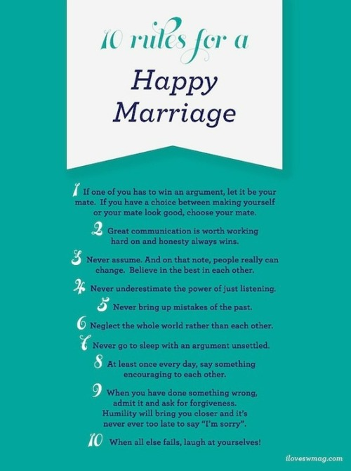 10 Rules for a Happy Marriage
