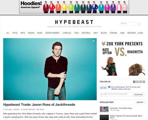 fuckyeahohio:  nickfancher:  Hypebeast does a write-up on Jason Ross, founder of JackThreads. Photo by yours truly.  Thanks, FYO, for reblogging Ohio Photog Nick Fancher's post on Jackthread's CEO and how he launched a flash-sale menswear business out of his Columbus, Ohio bedroom.  Swell read!