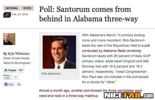 Rick Santorum Headline Fail