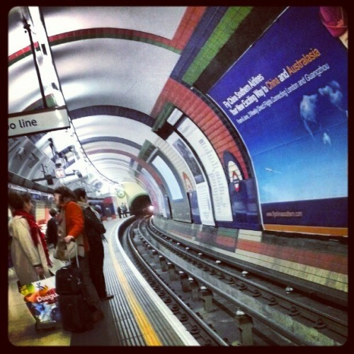 Curvy underground #tfl #London  (Taken with instagram)