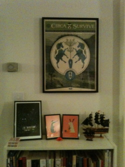 I framed my Circa Survive screen prints by Doe-Eyed Print & Design Studio1 of 2.