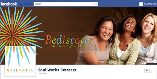 Facebook Timeline design for Soul Works Retreats.