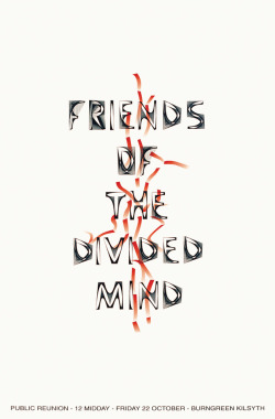 Chris Evans Friends of the Divided Mind, 1999 Screenprinted poster (119 × 84 cm)