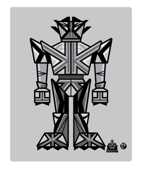 The K-boto is back in black! #4 and the final robot of the CMYK Bot series,
