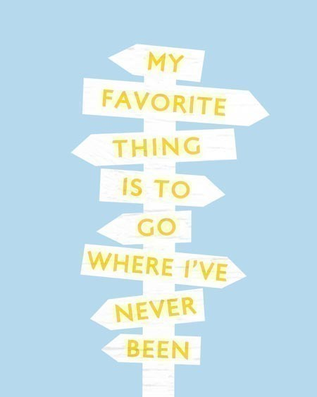 jaymug:  My favorite thing is to go places where i've never been.