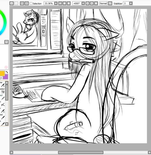 A w.I.P of my OC pony. [what is a clean sketch? o<o? ]
