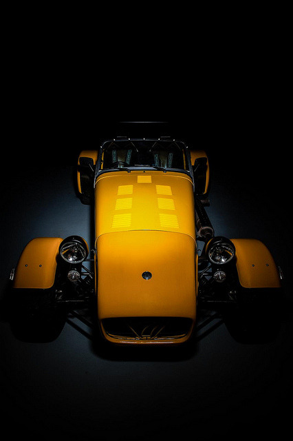 fuckyeahlotus:  Yellow Caterham Super 7 Studio shoot. by icedsoul photography .:teymur madjderey on Flickr.