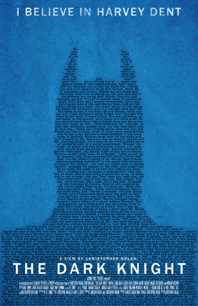 The Dark Knight Typography Movie Poster - $11.99 - http://etsy.me/HC5Nom
