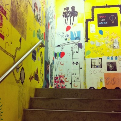Day 12: stairs (at OCADU) #aprilphotoaday #art #graffiti   (Taken with instagram)