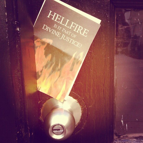 The Jehovah's Witnesses must have tracked me down … (Taken with instagram)