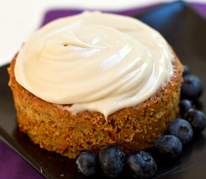 Cocoa Berry Mini Cakes with Cashew Cream Frosting. Click HERE for the recipe.