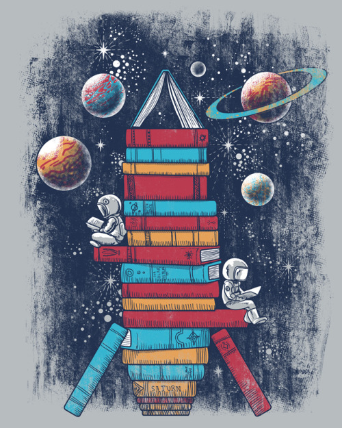 embracebooks:  (via Reading Rocket Ship by ~qetza on deviantART)