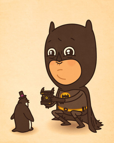 Pop Culture Characters in Ironic Situations. Extremely adorable!