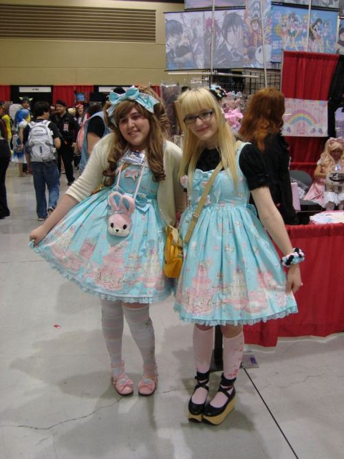 My twin at Sakura-Con > u < me and Caitlin :)