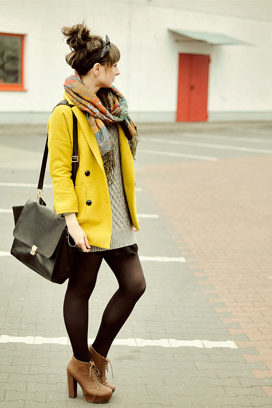 Coat, Sweater - ChicwishScarf - New YorkerShoes - DeezeeBag - Romwe (image: maddinka)