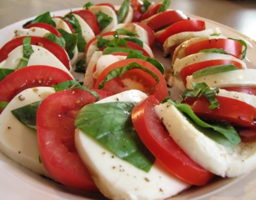 "If anyone was interested, my college has ""caprese salads"" (they're just lettuce with tomatoes and fresh mozz on top) and I live off of them. It's literally a staple of my diet."