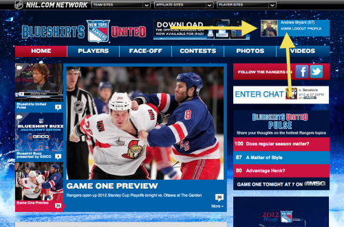 Oh yea, official admin on blueshirtsunited.com! NY Rangers playoffs start tonight, so I'm going to be super busy.
