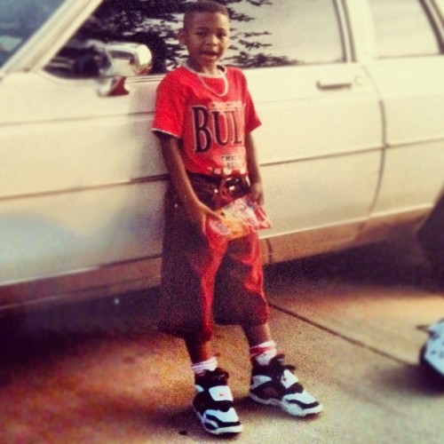 Young AC..damn my mom and dad had me fresh  #swag #stuntin #throwbackthursday #deions #bulls (Taken with instagram)